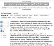 Imagen del artículo Fabes, anchoas y variados 'platines' de Carlos Capel publicado en El País